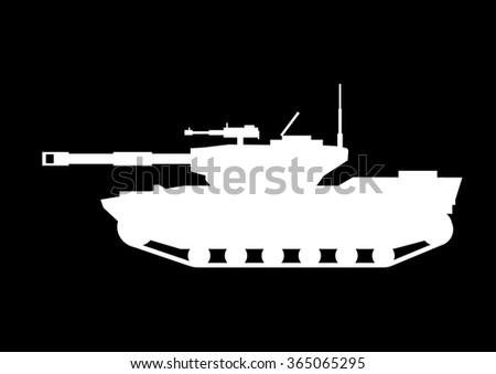 Tank silhouette - stock vector