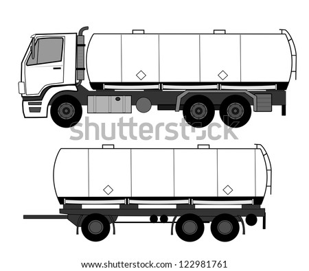 Tank truck - stock vector
