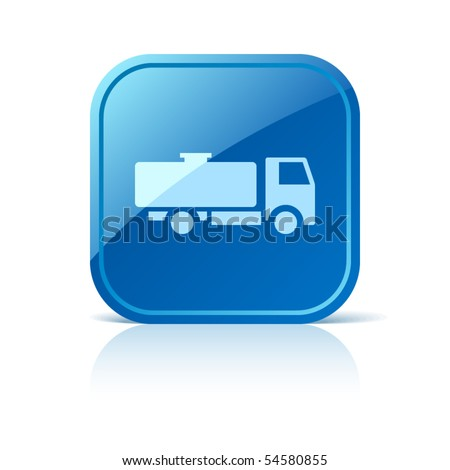 Tank truck icon - stock vector