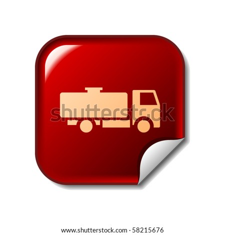 Tank truck sticker - stock vector