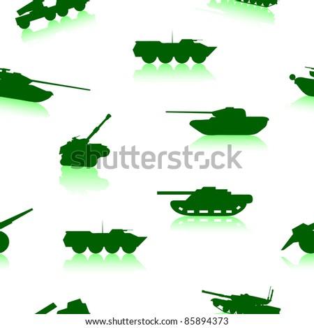 Tank Weapon seamless wallpaper - stock vector