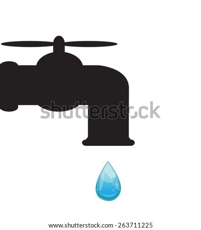 tap with  water drop - stock vector