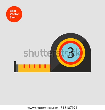 Tape measure icon - stock vector