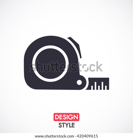 Tape measure icon. Roulette construction symbol icon. Vector Eps 10 - stock vector