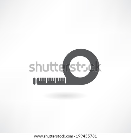 tape measure ruler symbol - stock vector