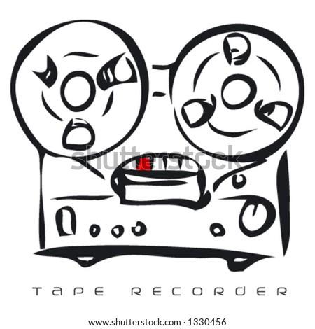 Tape recorder - stock vector