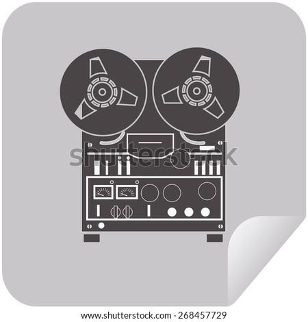 Tape recorder icon - vector illustration. eps 10 - stock vector