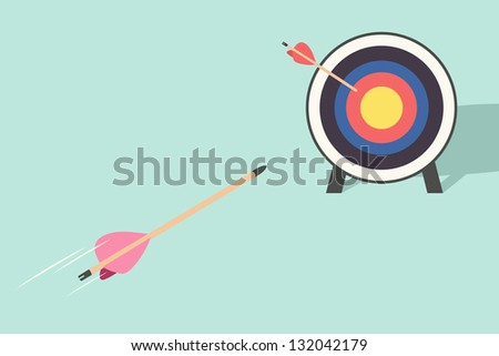target and arrow - stock vector