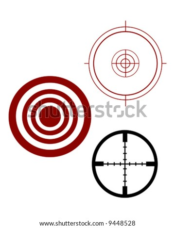 target and scope sights - stock vector