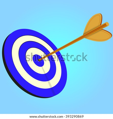 Target, Bulls eye, Victory, Accuracy or Success - Illustration