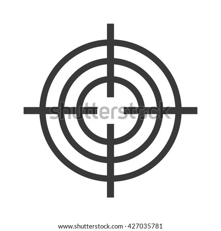 Target circle for archery. Target circle shooting target logo vector. Target circle arrow center competition goal and accurate bullseye shot perfect target circle. Board hit leisure black sign design. - stock vector