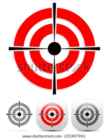 Target, crosshair icon with several variations - stock vector