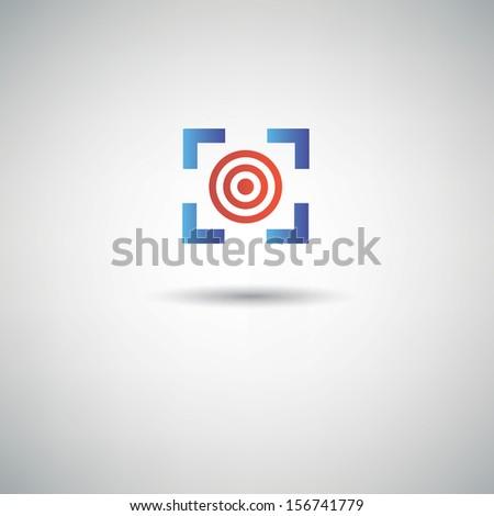 Target dart symbol,vector - stock vector