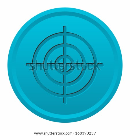 Target (engraved button, blue version)