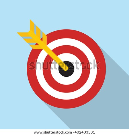Target Flat Concept Icon Vector Illustration.  - stock vector