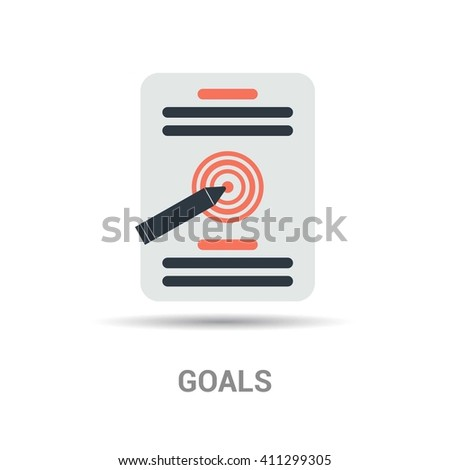 target goals vector icon success business strategy concept - stock vector