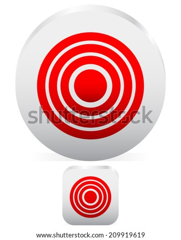 Target graphics. Hit, bulls eye. - stock vector