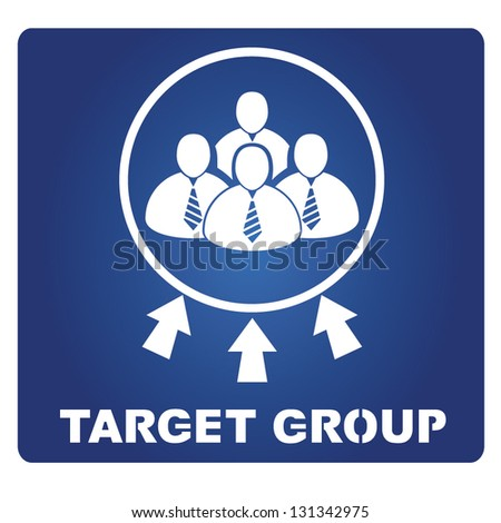 target group - stock vector
