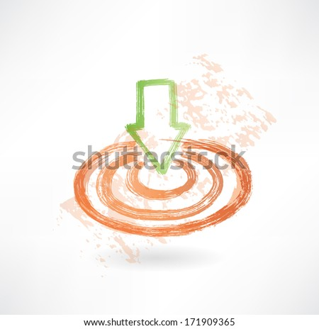 target grunge icon. - stock vector