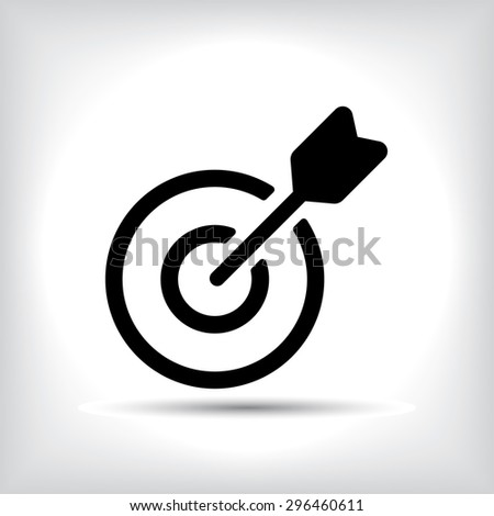 Target icon. - stock vector
