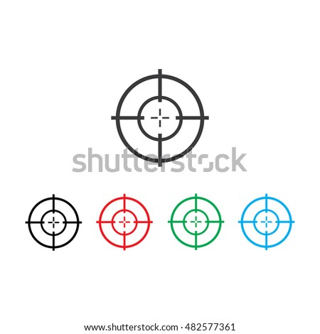 Target Icon,Aim Icon, Set,Vector Illustration,Eps10