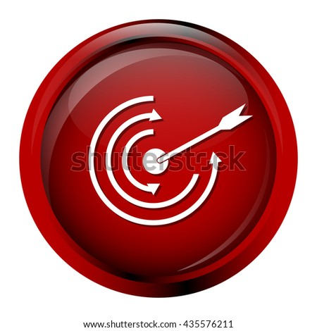 Target icon. concept to goal sign vector illustration - stock vector