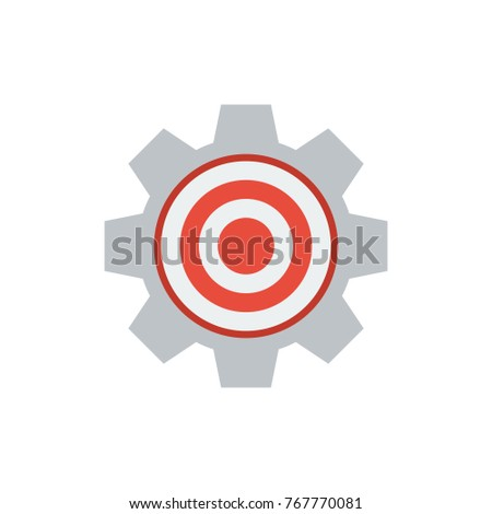 Target Icon Flat Symbol Isolated Vector Stock Vector 767770081