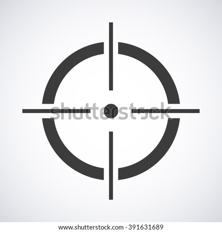 Target icon isolated on a gray background, vector illustration stylish for web design - stock vector