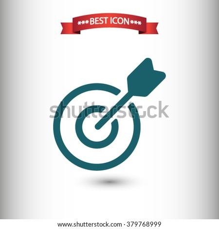 Target icon vector - stock vector