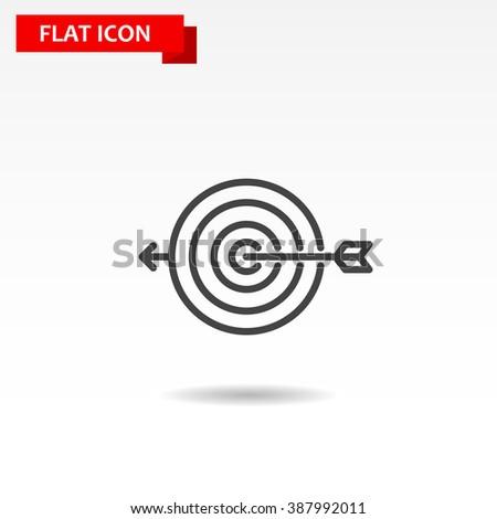 Target Icon Vector. - stock vector