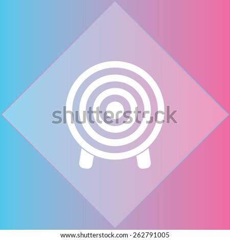 Target icon, vector illustration. Flat design style - stock vector