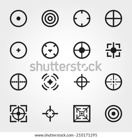 Target icons - stock vector