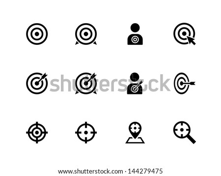 Target icons on white background. Vector illustration. - stock vector