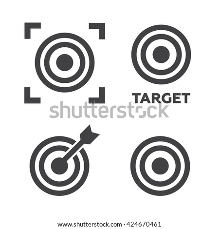 Target icons set vector illustration. Target black logo. Target icons sign eps10 - stock vector