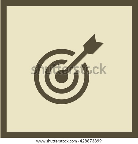 Target isolated minimal single flat linear icon for websites and mobile minimalistic flat design. - stock vector