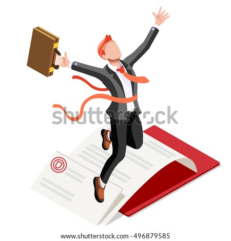 Target Job Now Hiring concept. HR role & ambition. Isometric Winner Man Win. Businessman business success applicant candidate research infographic. Hiring Now businessman isolated 3D clerk character