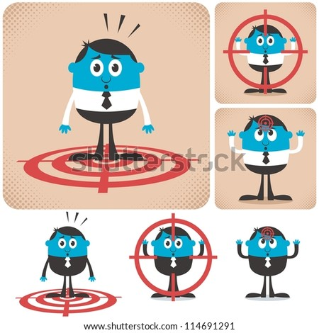 Target: Pack of conceptual illustrations for being a target. - stock vector