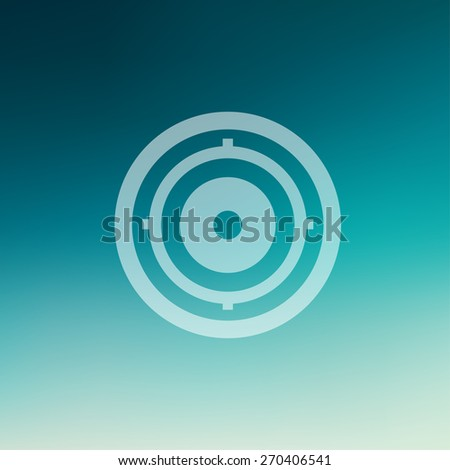 Target pad icon in flat style for web and mobile, modern minimalistic flat design. Vector white icon on gradient mesh background - stock vector