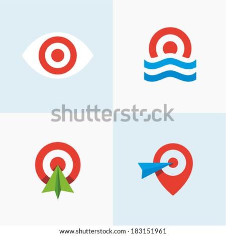 Target set - stock vector
