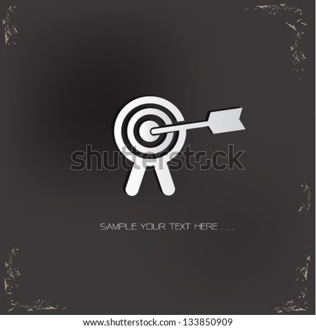 Target sign,vector - stock vector