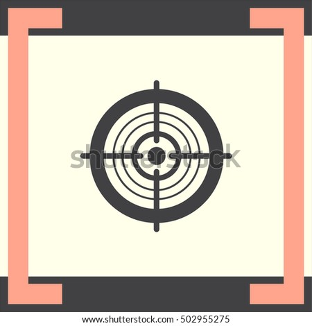 Target sign vector icon. Success symbol. Focus sign.