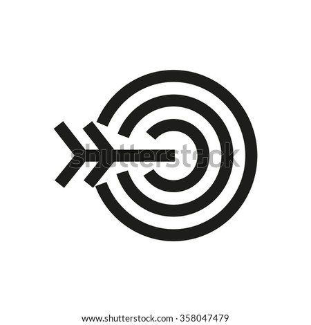 Target, success line icon. Pixel perfect fully editable vector icon suitable for websites, info graphics and print media. - stock vector