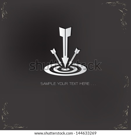Target symbol on grunge background - stock vector