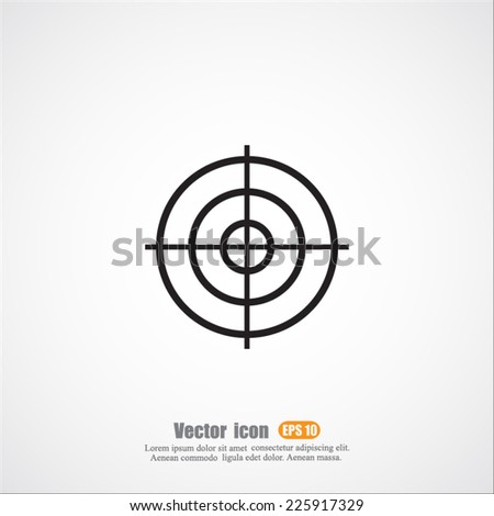 target vector icon - stock vector