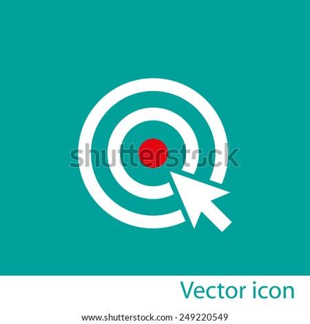 Target vector icon - stock vector