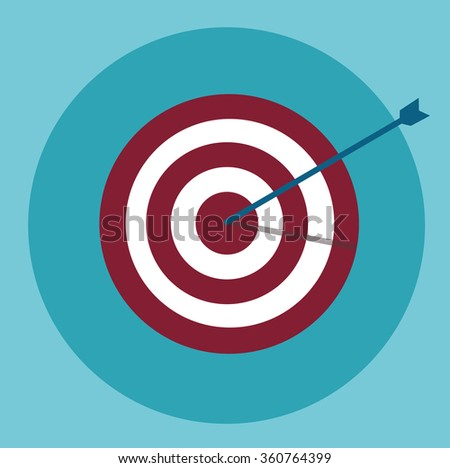 Target with an arrow vector icon