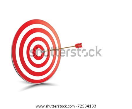 Target with arrow  Horizontal - stock vector
