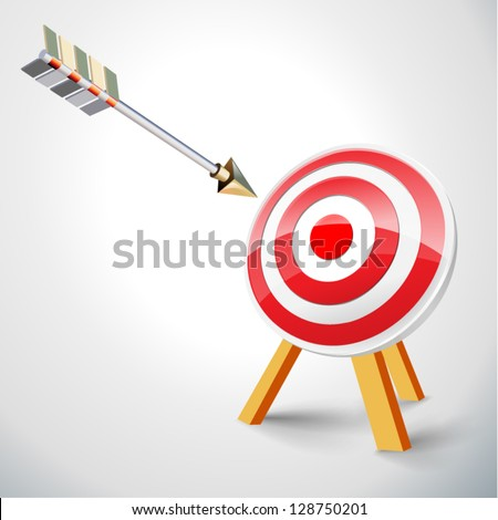 Target with arrow (vector) - stock vector
