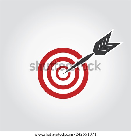 target with dart , isolated, concept of goal - stock vector