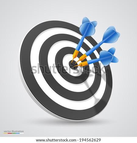 Target with darts. Vector - stock vector